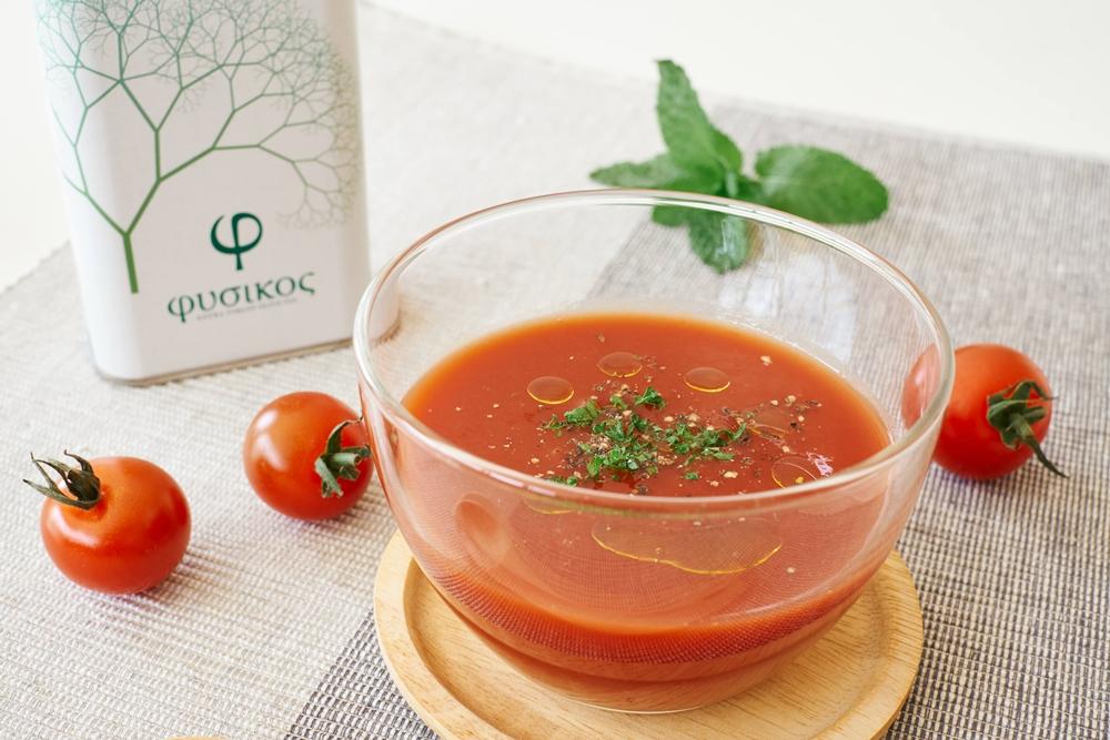 調理時間30秒!絶品冷製トマトスープ