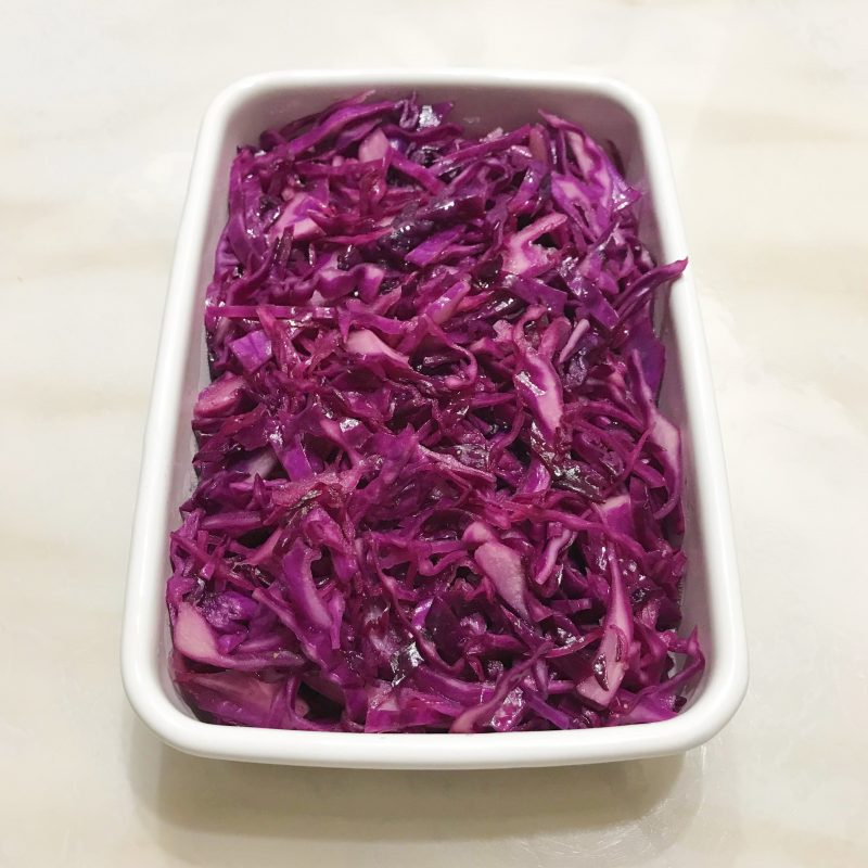 紫キャベツのオリーブオイルマリネ