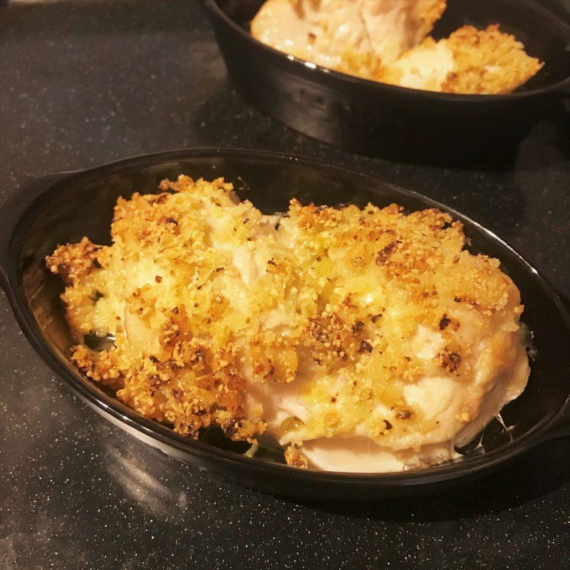 鶏の香草パン粉焼き