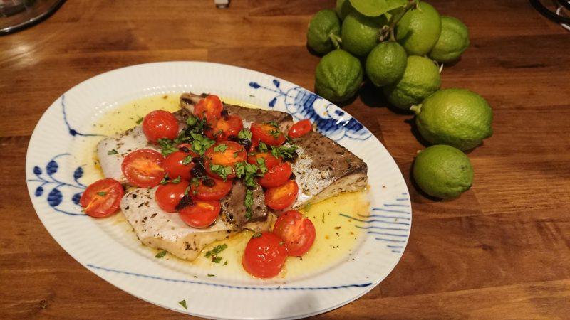 季節の魚のオーブン焼き