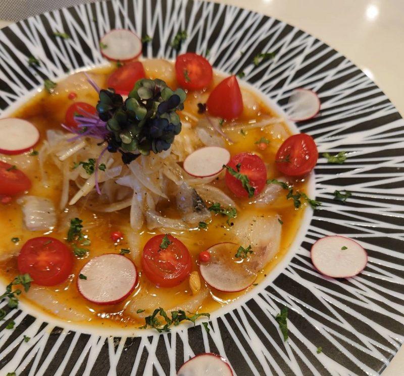 白身魚の簡単カルパッチョ